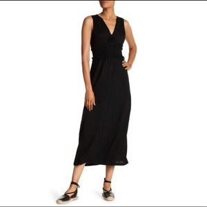 Max Studio Smocked Waist Maxi Dress